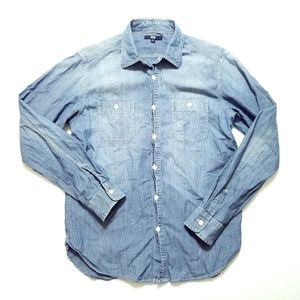 UNIQLO Soft Denim Button Shirt